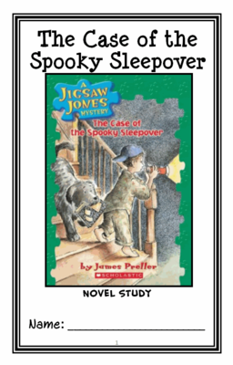 Jigsaw Jones: The Case of the Spooky Sleepover (James Preller) Novel Study from McMarie on TeachersNotebook.com -  (32 pages)  - A fun, engaging, 32-page booklet-style Novel Study complete with a challenging, book-based Word Jumble and Word Search!  Based on James Preller's 'Jigsaw Jones: The Case of the Spooky Sleepover.'