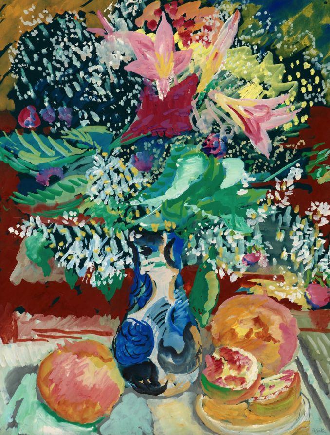 SIGRID HJERTÉN, STILL LIFE WITH FLOWERS.