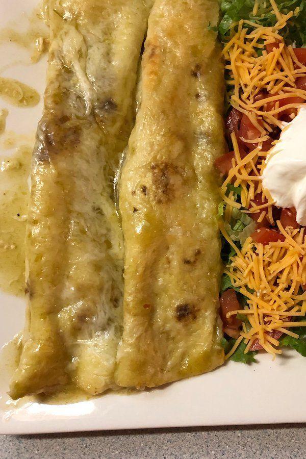 Jalapeno Cream Cheese Chicken Enchiladas #todieforchickenenchiladas