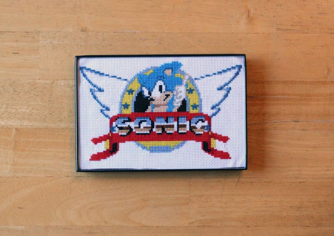 Sonic the Hedgehog cross stitch I did available on my etsy shop: etsy.com/shop/KIYcrafts