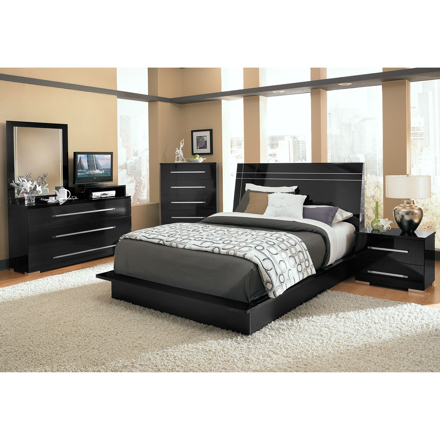 Dimora Bedroom Set Black