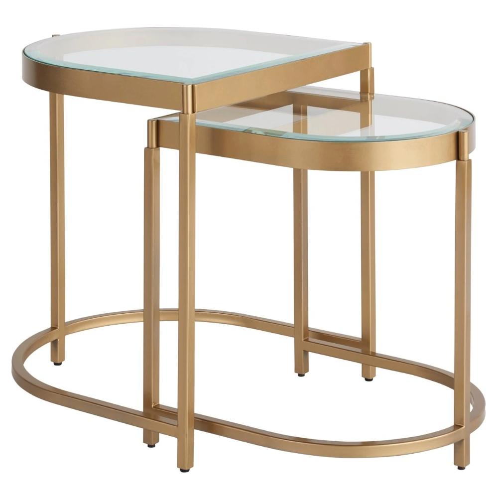 Editorial Gold Leg Glass Top Nesting End Tables In 2021 Nesting End Tables Gold Nesting Tables Glass Top [ 1000 x 1000 Pixel ]