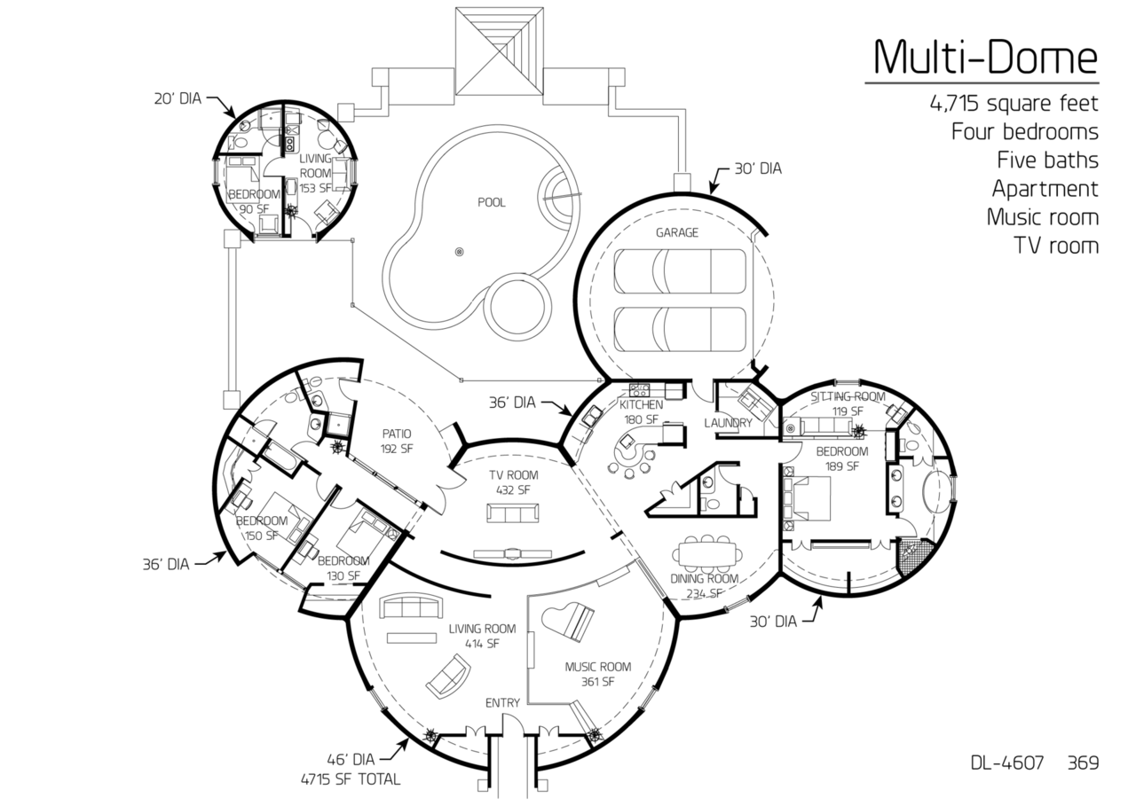 Earthship plans and designs pictures - Floor Plan Dl 4607 Monolithic Dome Institute Earthship Plansunique Floor Plansdome