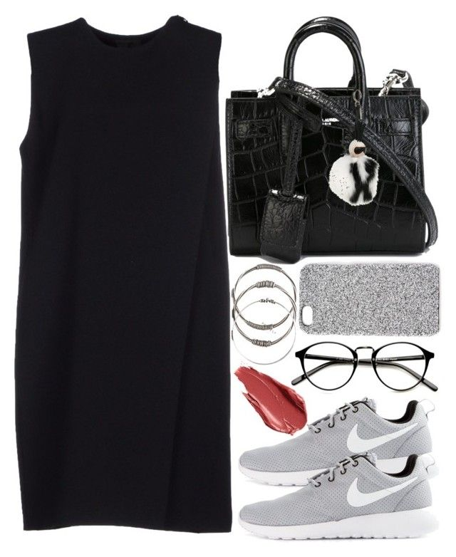 """""""Untitled #376"""" by mari-mmp ❤ liked on Polyvore featuring Alexander Wang, NIKE, Yves Saint Laurent, Fendi, 2Me Style and Urban Decay"""