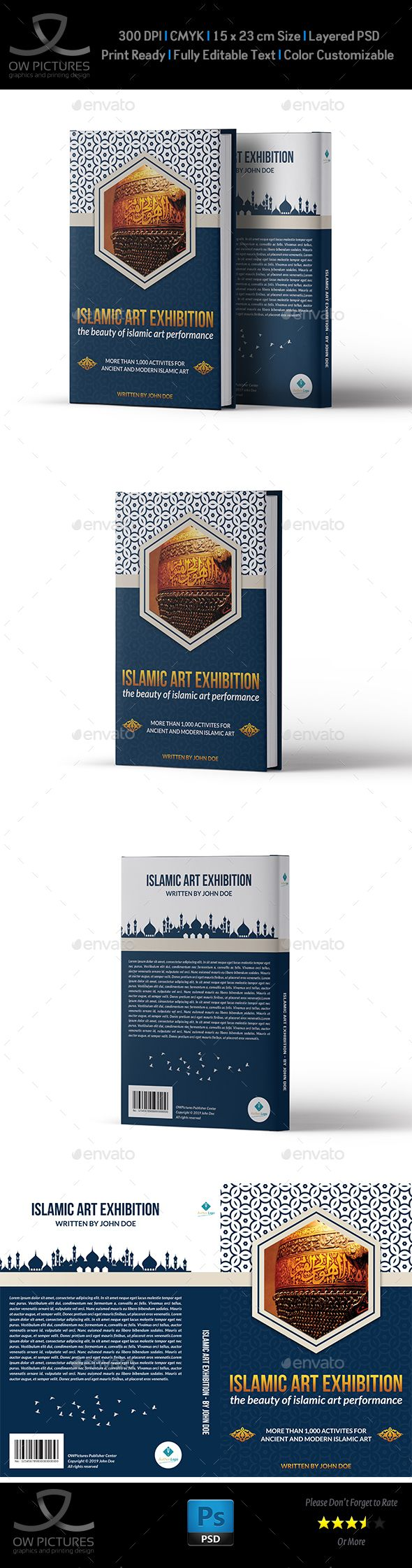 Islamic Book Cover Template Book Cover Templates Pinterest