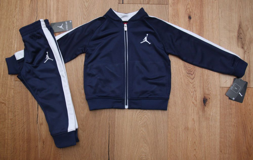 cee2ed7ca0a Air Jordan Toddler Boy 2 Piece Jogging Set~ Tracksuit~Navy Blue & White ~ Jumpman #Jordan #ToddlerBoy #JoggingSet #JoggingSuit #TrackSuit #Jumpman