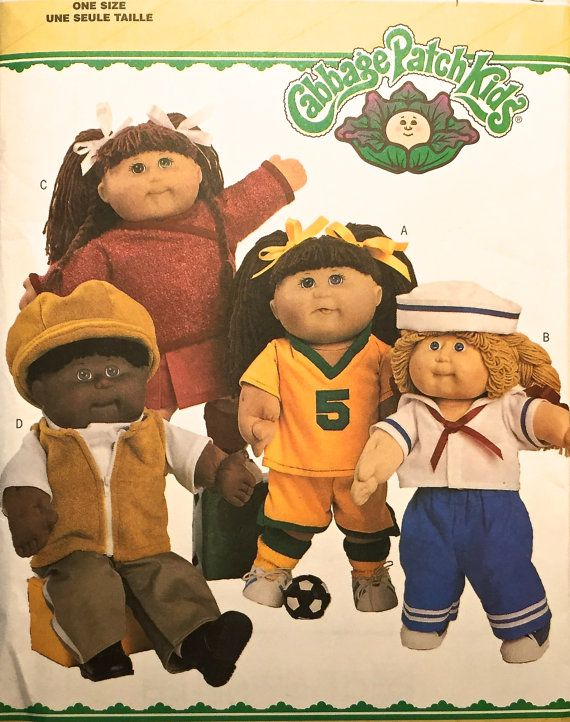 Cabbage Patch Kids Sewing Pattern Sailor Suit Soccer Uniform Cheerleader Outfit Doll Cl Cabbage Patch Kids Clothes Cabbage Patch Dolls Cabbage Patch Kids Dolls