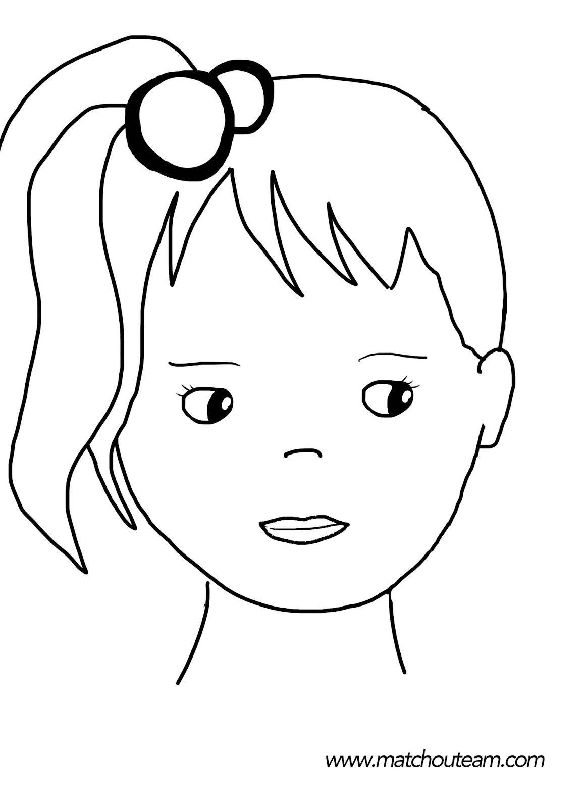dessin fillette visage