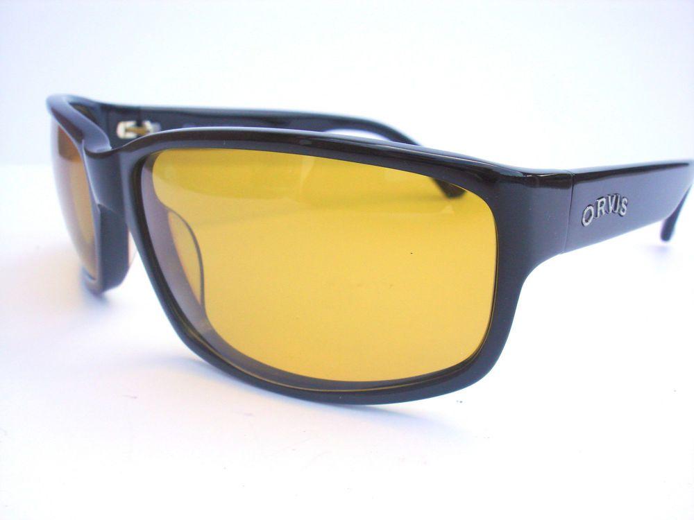 c2013ea724 NEW Orvis Polarized Sunglasses Ghost black 4C22 Amber lenses  Orvis  Wrap