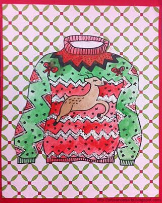 Ugly Christmas Sweater Art Give Each Kid A Template To Fill In With Designs Then Cut Out And Back On Wring Paper