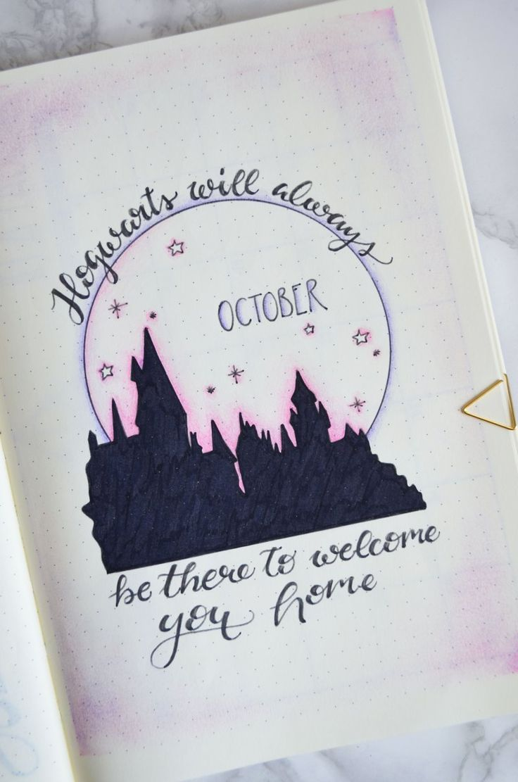 LIFESTYLE: HARRY POTTER BULLET JOURNAL LAYOUT • Lily's Colours