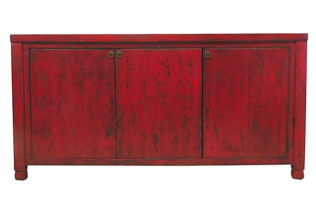 Eleanor 3-Door Sideboard, Red on OneKingsLane.com - 71x17x36 $1499.00