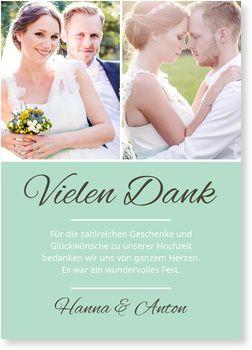 Wir Werden Heiraten In Mint Dankeskarten Hochzeit Danksagung Hochzeit