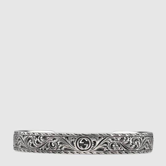 28d703a66 Gucci Bracelet in silver with feline head Mens Silver Jewelry, Sterling  Silver Cuff Bracelet,