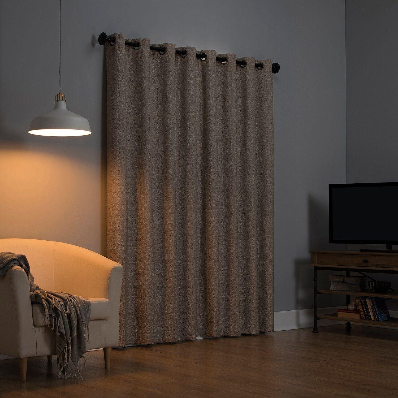 Sun Zero Evie Medallion Jacquard Extreme Blackout Window Curtain