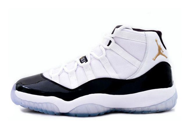 08ee26202e19 Mens Air Jordan 11 (XI) Retro DMP White-Black Metallic Gold Jordan