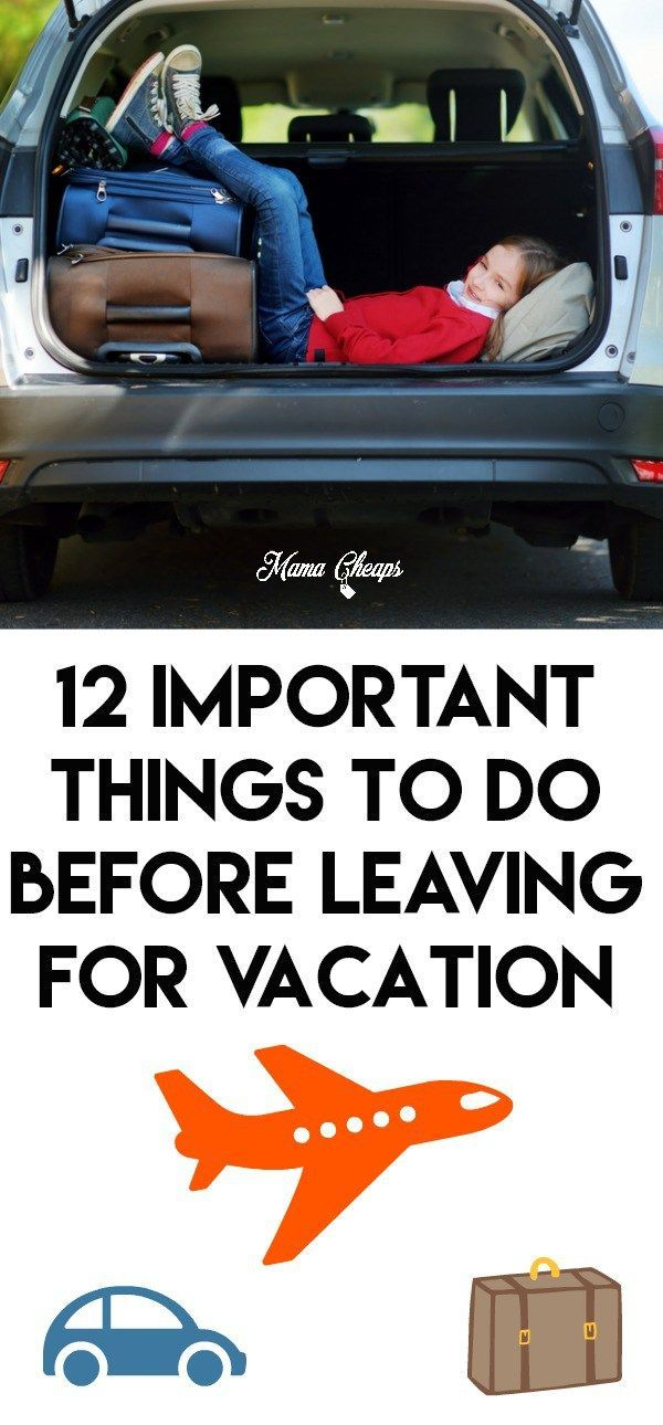 12 Important Things to Do BEFORE Leaving for Vacation   Vacation. Things to do. Cruise party