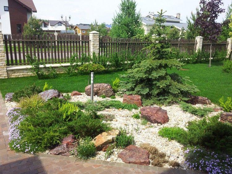 Steinbeet im Vorgarten anlegen – 12 Ideen für einen ...