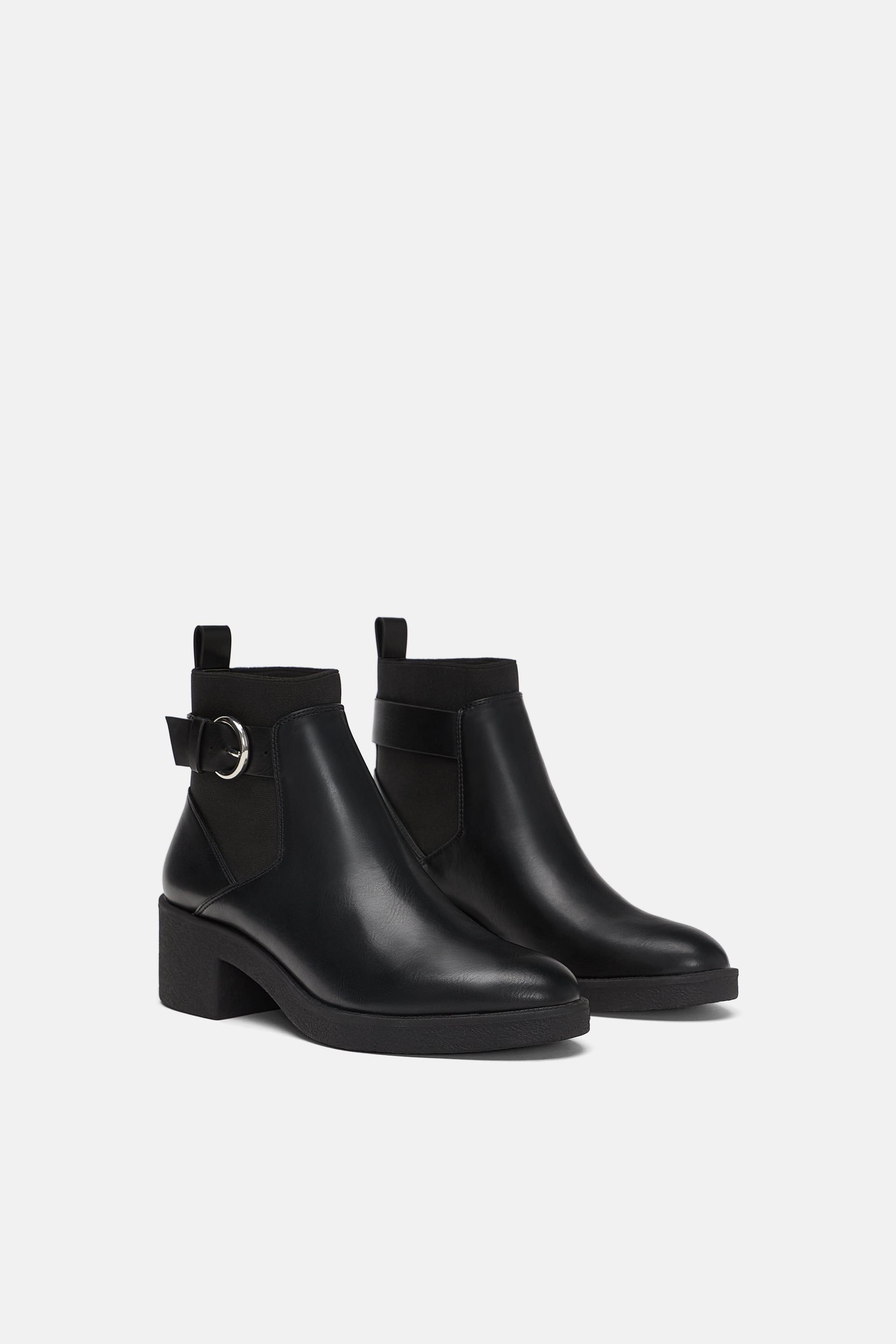 893cb5dff4a60 Flat elastic ankle boots in 2019   eventwear   Bootie boots, Ankle ...