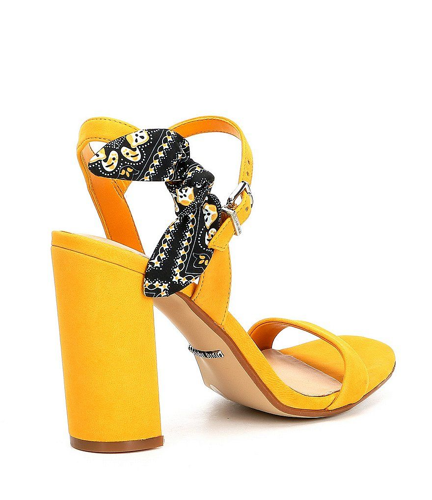 Gianni Bini McKariatwo Bandana Tie Block Heel Dress Sandals cgdgW4