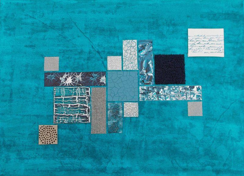 Tableau Peinture Murale Abstraite Rectangle De Couleur Bleu