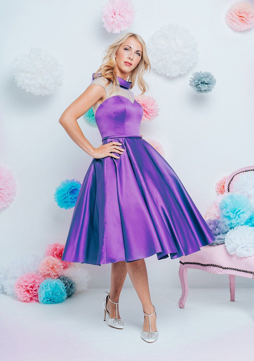 ab-sasha Shorter Fifties style tea length wedding dress | 50\'s ...