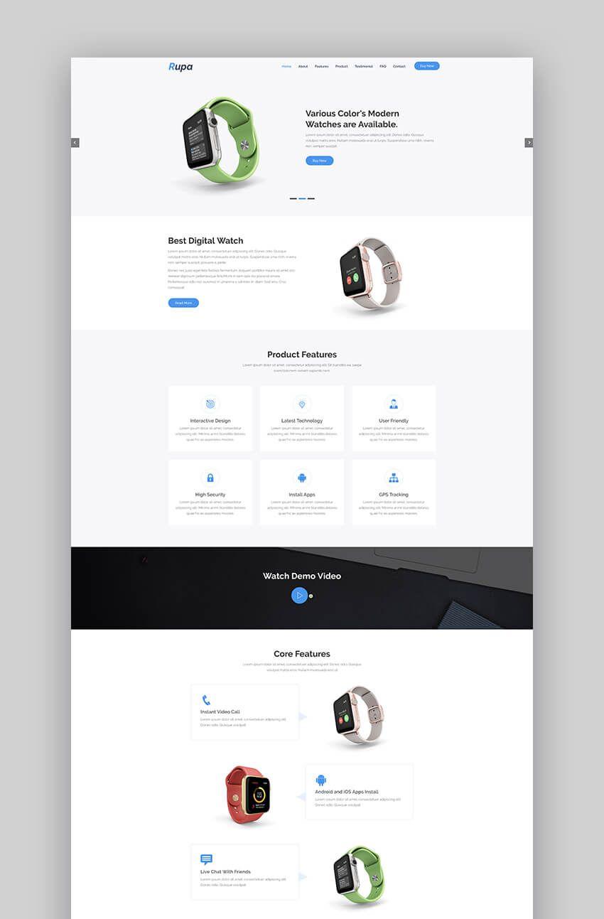 Rupa Product Landing Page Landing Page Examples Landing Page Design Landing Page