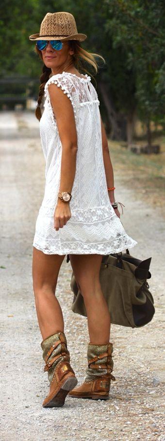 Jurkje Wit Style Ibiza Geweldig Geweldig Ibiza wqxzfqXR