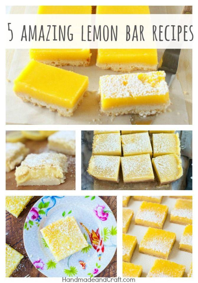 5 Amazing Lemon Bar Recipes
