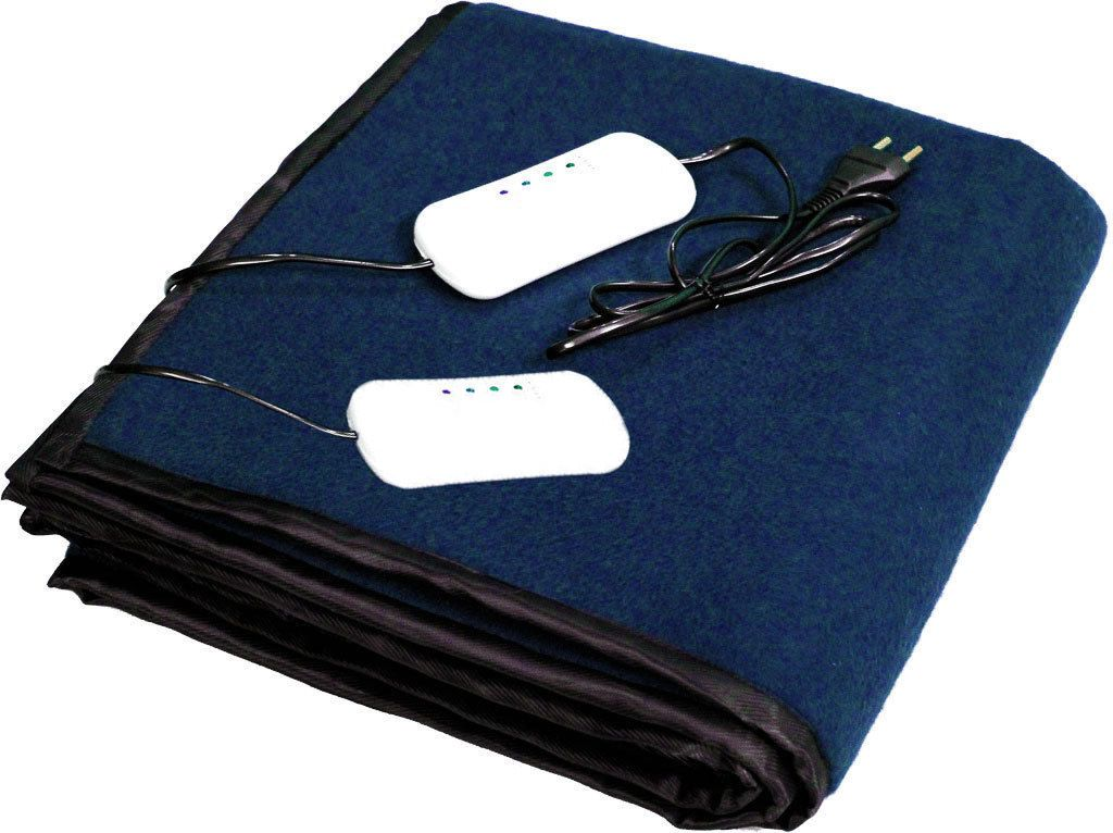 Leospark Electric Heating Blanket Double Bed Navy Blue Fleece 2 699 00