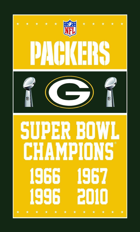 Champion Flag 90x150cm Digital Print Green Bay Packers Flag Banner Packers Green Bay Green Bay Packers