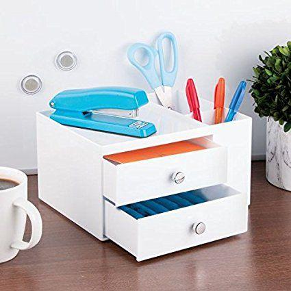 Rangement Pour Tiroir De Bureau 8 Compartiments Blanc Amazon Fr Cuisine Maison Bureau Avec Tiroir Rangement Tiroir Et Tiroir