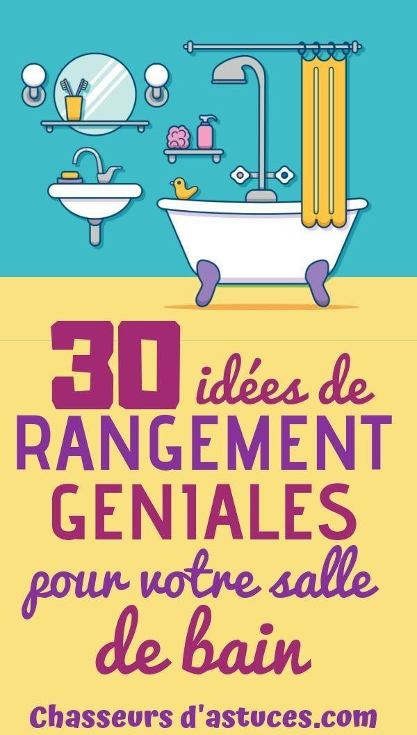 30 idées de rangement SUPER rusées pour chaque recoins de votre salle de bains