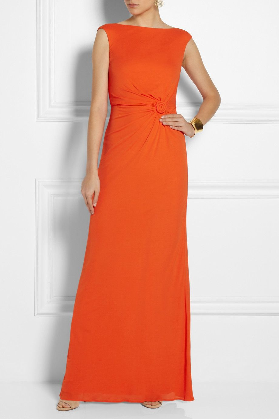 Issa|Ruched crepe gown|NET-A-PORTER.COM