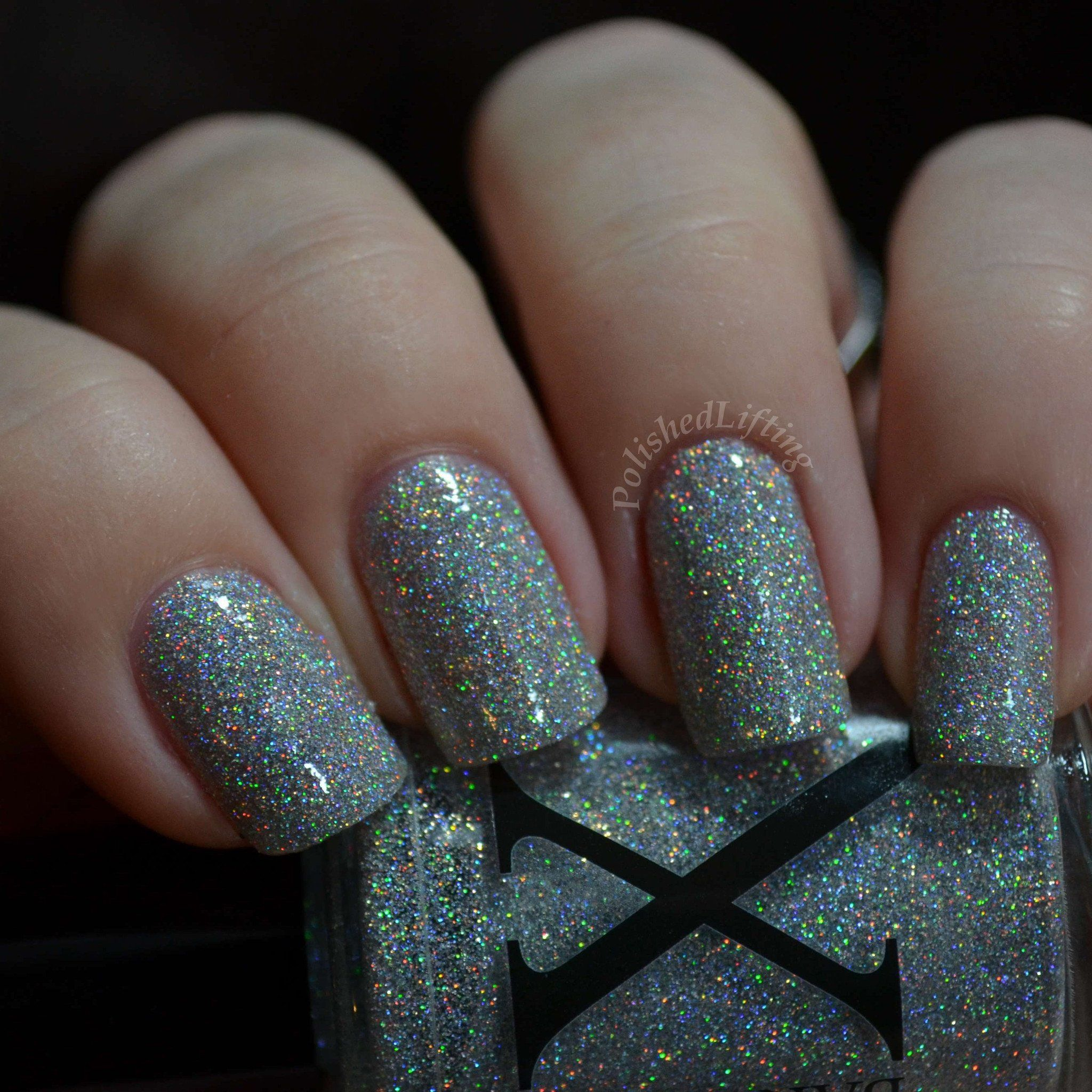 Silver Snow Surfer Is A Textured Holographic Nail Polish It Reminds Me Of Fresh Powdery As The Light Makes Snowflakes Sparkle