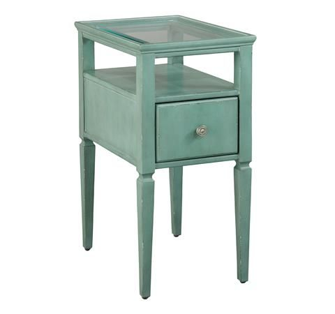 Seafoam Green Chairside Table