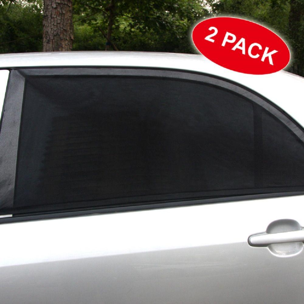 2PC Car Side Front Rear Window Sun Shade Mesh Cover Shield Sunshade UV Protector