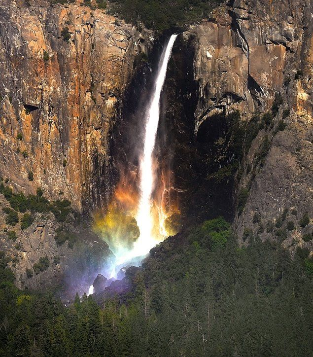 This Majestic Waterfall Rainbow Was Recently Experienced