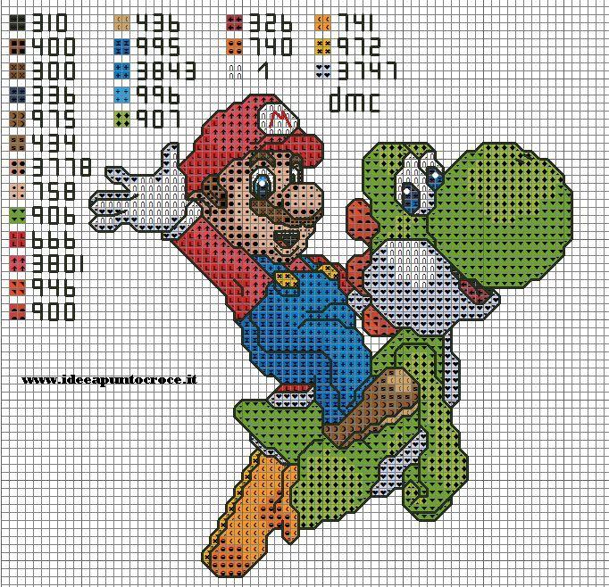 SUPER MARIO PUNTO CROCE by syra1974 on deviantART   Crochet ...