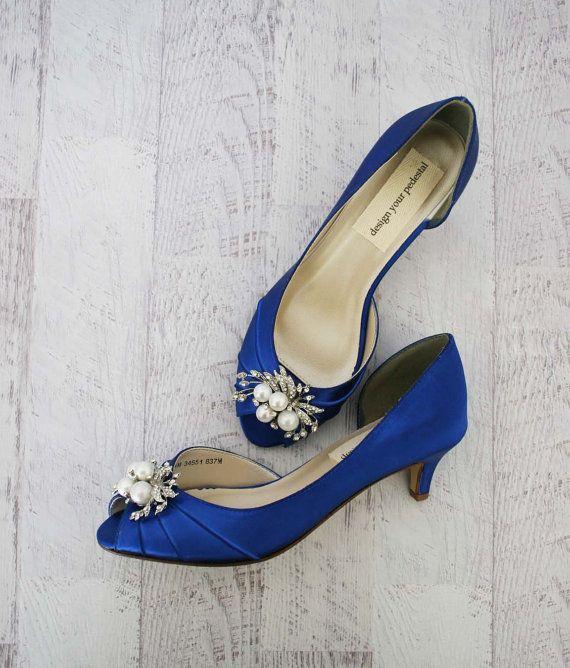 Brautjungfern Brautjungfern Schuhe Blau Von Elliewrenweddingshoe