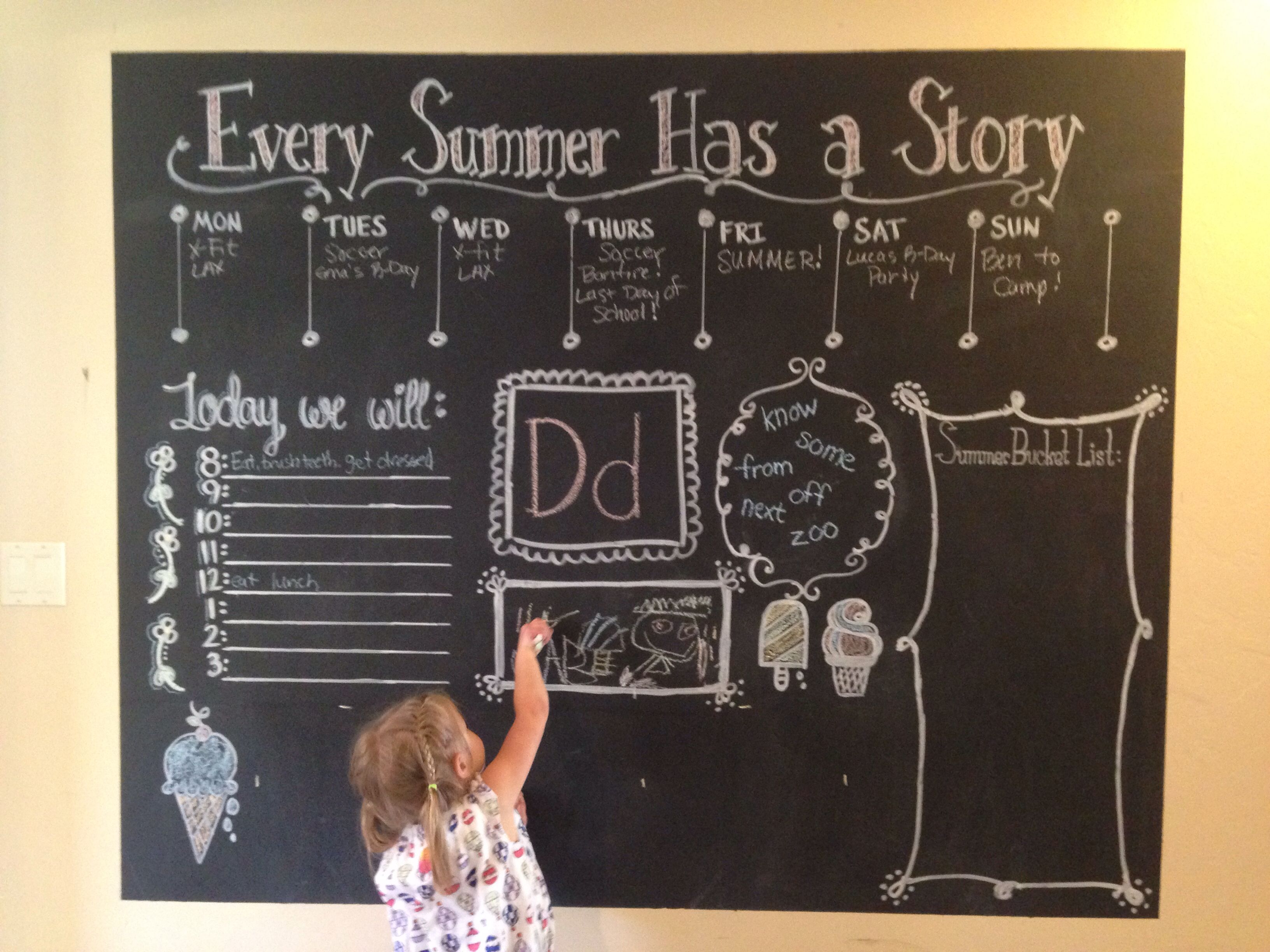 Summer with my kids chalkboard wall organizer for the family chalkboard wall organizer for the family creating order for amipublicfo Gallery