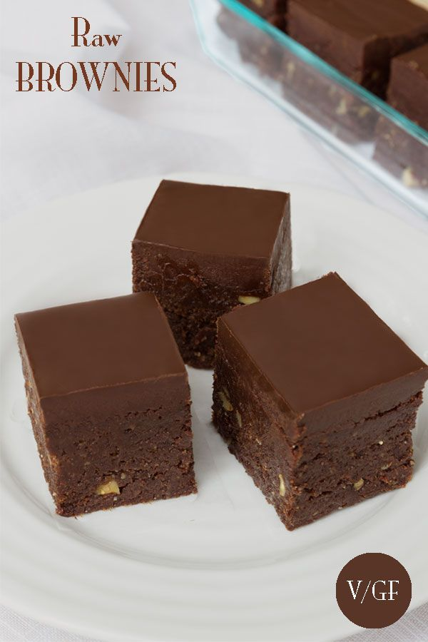 Photo of Raw Brownies with Chocolate (Vegan, Paleo)   Nutrition Refined