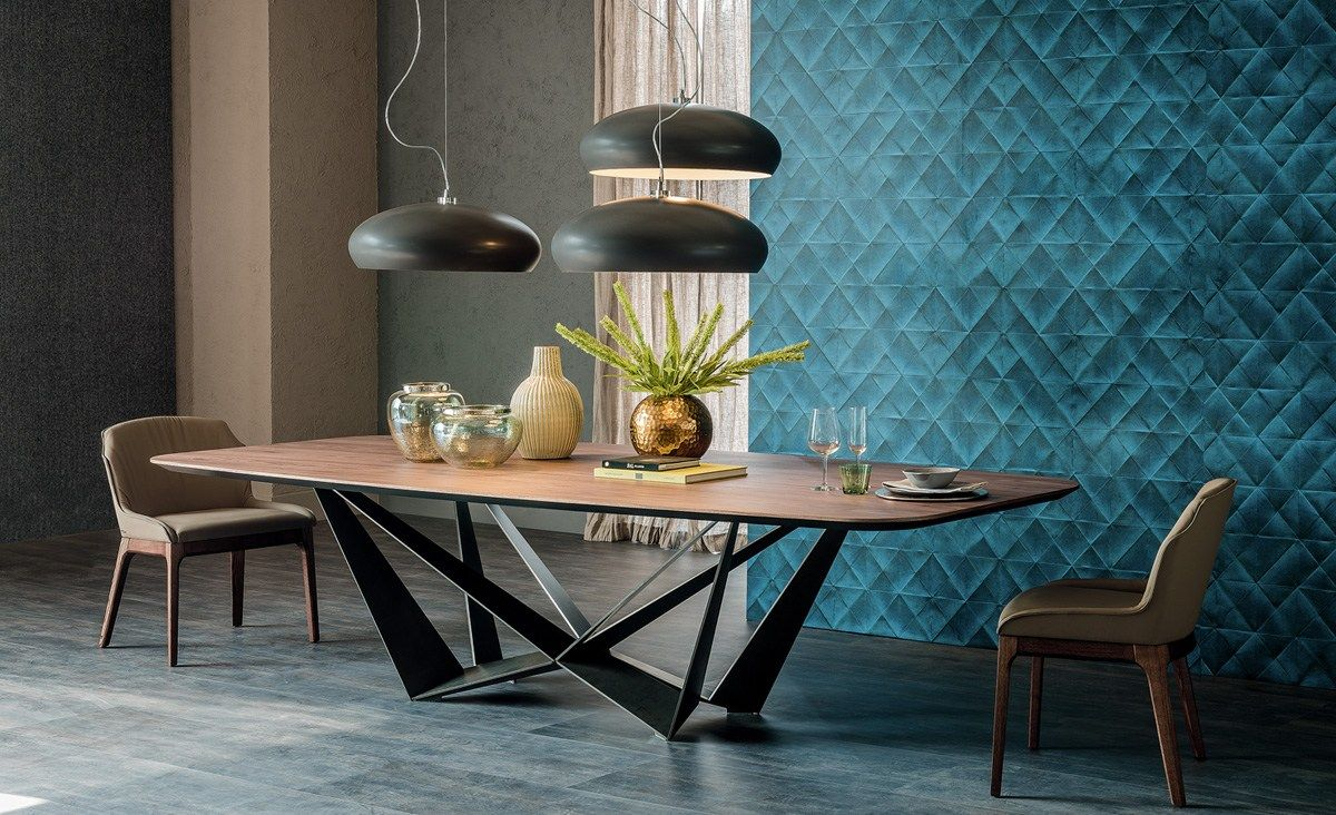 Rectangular wooden table SKORPIO WOOD by Cattelan Italia design