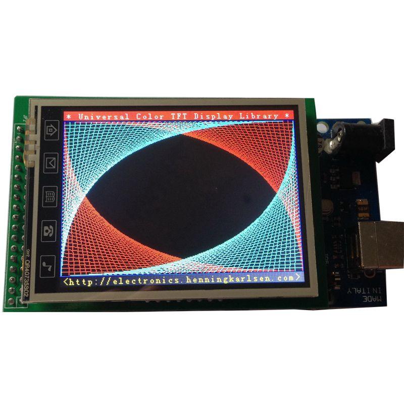 2,8 2,8 zoll TFT LCD Display Schild Sd-buchse Touch Panel für Arduino uno mega2560 #touchpanel