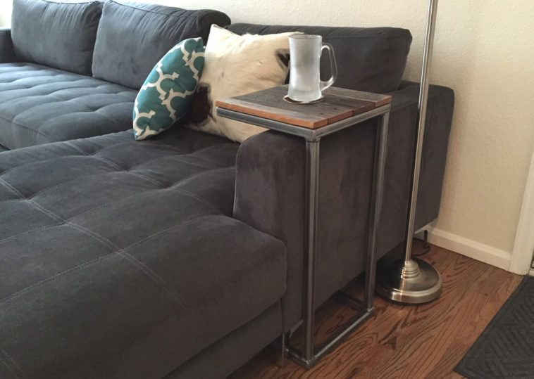 Sofa C Shape Table With Wooden