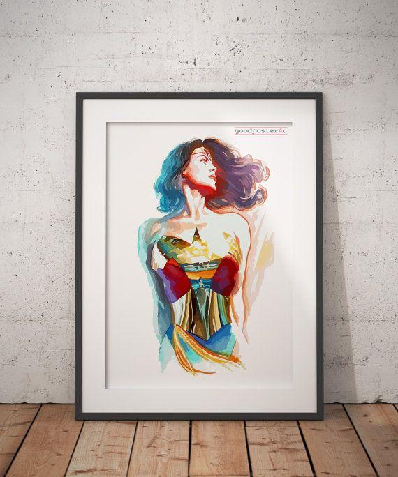 Wonder Woman Print Wall Art Home Decor Wall Art Prints