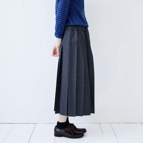 Charpentier de Vaisseau : Wool Pleated Skirts