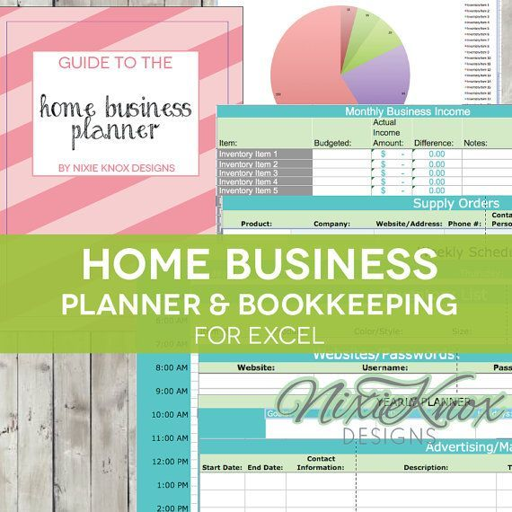 Home Business Planner - 2018 Excel Spreadsheet - Etsy Seller Budget