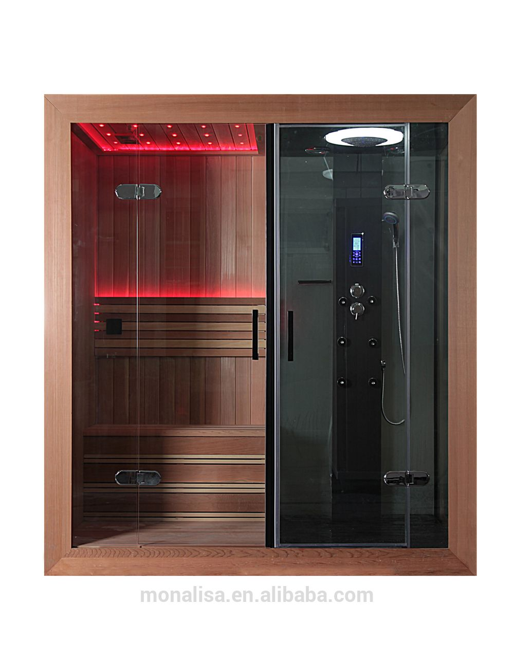 Luxury Bathroom Design Portable Led Steam Shower Sauna Combos Room ...