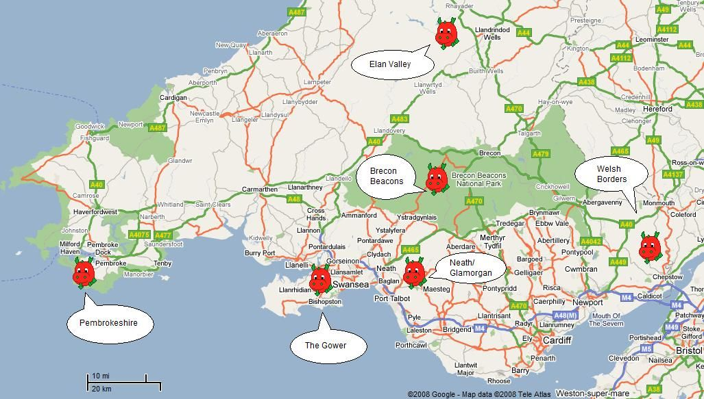 Map Of South Wales Uk Image result for printable map of south wales uk | maps | Map of